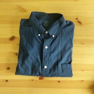 Jcrew lightweight oxford shirt, large, blue